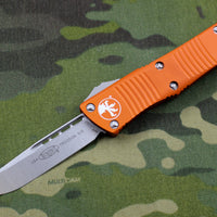 Microtech Troodon Single Edge OTF knife Orange with Stonewash Blade 139-10 OR