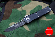 Microtech Troodon Black Single Edge OTF Knife with Black Blade 139-1