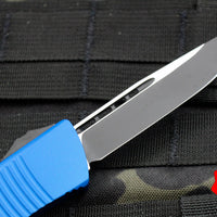 Microtech Troodon Blue Single Edge OTF Knife with Black Blade 139-1 BL