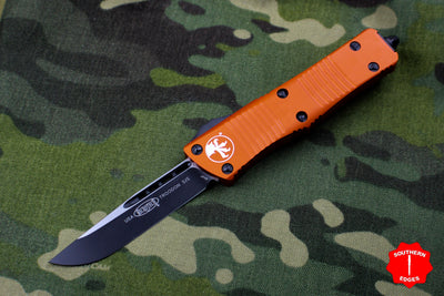 Microtech Troodon Orange Single Edge OTF Knife with Black Blade 139-1 OR
