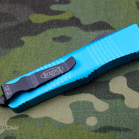 Microtech Troodon Turquoise Single Edge OTF Knife with Black Blade 139-1 TQ
