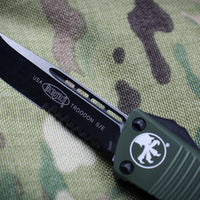 Microtech Troodon OD Green Single Edge OTF Knife with Black Part Serrated Blade 139-2 OD