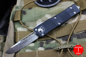 Microtech Troodon Single Edge OTF knife Black with Satin Blade 139-4