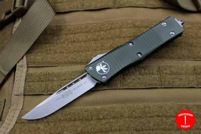 Microtech Troodon Single Edge OTF Knife OD Green with Satin Blade 139-4 OD