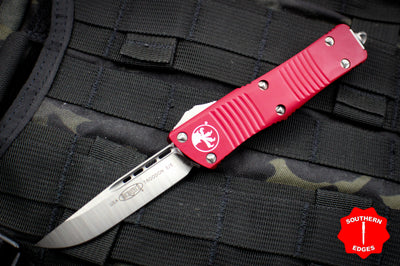 Microtech Troodon Single Edge OTF Knife Red with Satin Blade 139-4 RD