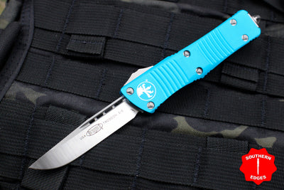 Microtech Troodon Turquoise Single Edge OTF Knife with Satin Blade 139-4 TQ