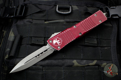 Microtech Distressed Merlot Combat Troodon Double Edge Apocalyptic Blade 142-10 DMR