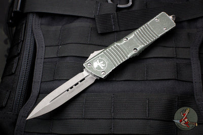 Microtech Distressed OD Green Combat Troodon Double Edge Apocalyptic Blade 142-10 DOD