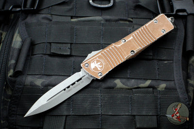 Microtech Distressed Tan Combat Troodon Double Edge Apocalyptic Blade 142-10 DTA