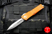 Microtech Orange Combat Troodon Double Edge Stonewash Blade 142-10 OR