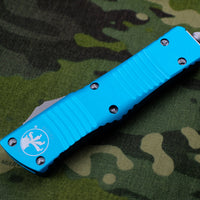Microtech Turquoise Combat Troodon Double Edge Stonewash Blade 142-10 TQ