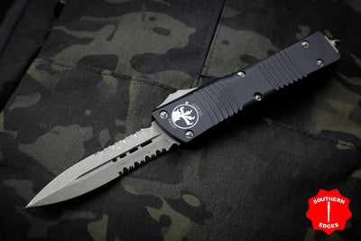 Microtech Combat Troodon Black Double Edge Apocalyptic Part Serrated Blade 142-11 AP