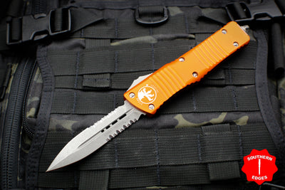 Microtech Combat Troodon Orange Double Edge Apocalyptic Blade Part Serrated 142-11 APOR