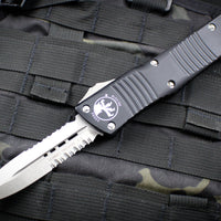 Microtech Combat Troodon Black D/E Part Serrated Stonewash Blade 142-11