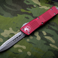 Microtech Red Combat Troodon Double Edge OTF Apocalyptic Full Serrated Blade 142-12 APRD