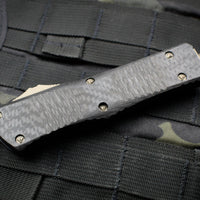 Microtech Combat Troodon Carbon Fiber Top with Double Edge Bronze Blade 142-13 CFS