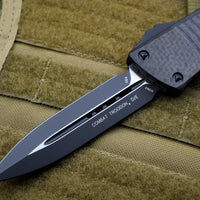 Microtech Combat Troodon Carbon Fiber Top Double Edge OTF Black Blade Tactical HW 142-1 CFS