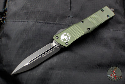 Microtech Combat Troodon OD Green Double Edge Black Blade 142-1 OD