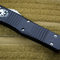 Microtech Combat Troodon OTF Black Handle Double Edge Black Blade 142-1
