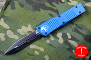 Microtech Combat Troodon Blue Double Edge OTF Black Blade 142-1 BL