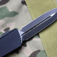 Microtech Combat Troodon D/E Tan G-10 Top Black Bottom Black Blade 142-1 GTTA