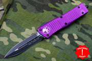 Microtech Combat Troodon Violet Double Edge OTF Black Blade 142-1 VI