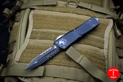 Microtech Combat Troodon Black Double Edge with Part Serrated Black Blade 142-2