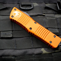 Microtech Combat Troodon Orange Double Edge Full Serrated Black Blade 142-3 OR