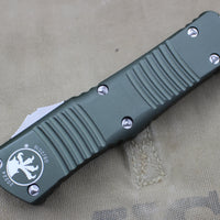 Microtech Combat Troodon Black Double Edge with Satin Blade 142-4 OD
