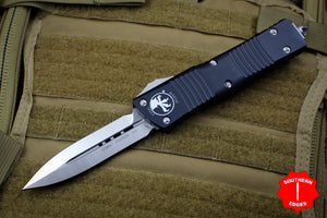 Microtech Combat Troodon Black Double Edge Satin Blade 142-4