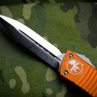 Microtech Combat Troodon Orange Double Edge OTF Satin Blade 142-4 OR