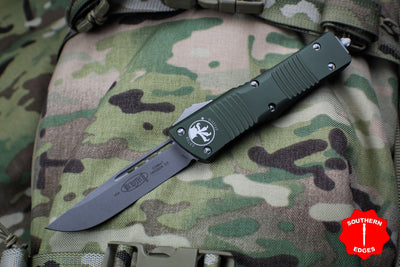 Microtech Combat Troodon OD Green with Single Edge Apocalyptic Blade 143-10 APOD