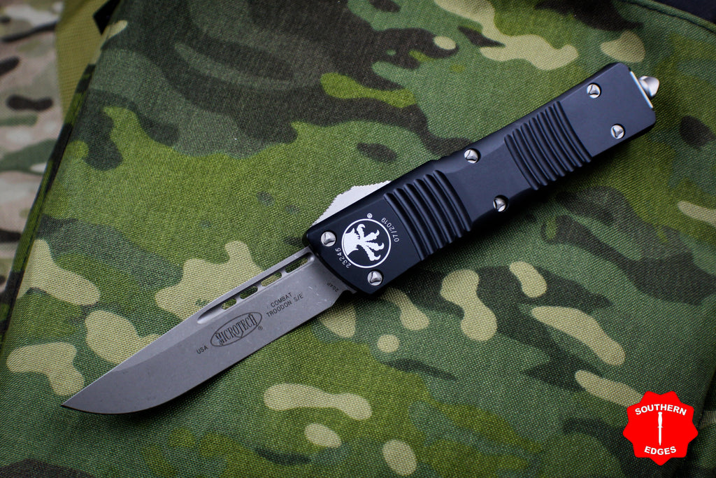 Microtech Combat Troodon Black Single Edge Apocalyptic Blade 143-10 AP