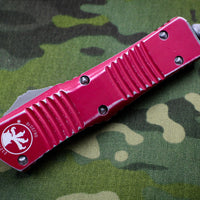 Microtech Combat Troodon Distressed Red Single Edge Apocalyptic Blade 143-10 DRD