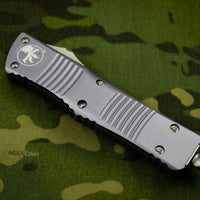 Microtech Combat Troodon Gray Single Edge Stonewash Blade 143-10 GY