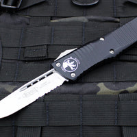 Microtech Combat Troodon Black S/E Stonewash Part Serrated Blade 143-11