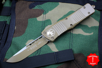 Microtech Combat Troodon Cerakoted Flat Dark Earth Single Edge Plain Edge Flat Dark Earth Blade 143-1 CDE