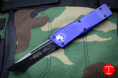 Microtech Combat Troodon Purple Single Edge OTF Black Blade 143-1 PU
