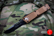 Microtech Combat Troodon Tan Single Edge OTF Black Blade 143-1 TA