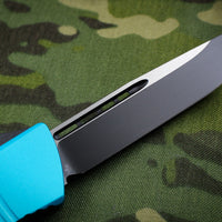 Microtech Combat Troodon Turquoise Single Edge OTF Black Blade 143-1 TQ