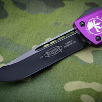Microtech Combat Troodon Violet Single Edge OTF Black Blade 143-1 VI