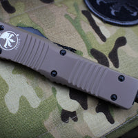 Microtech Combat Troodon Tan S/E Part Serrated Black Blade 143-2 TA