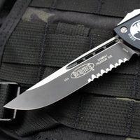 Microtech Combat Troodon Black S/E Part Serrated Black Blade 143-2