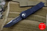 Microtech Combat Troodon Black S/E Tactical Part Serrated Black Blade 143-2 T