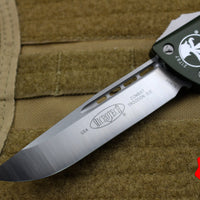 Microtech OD Green Combat Troodon Single Edge Satin Blade 143-4 OD