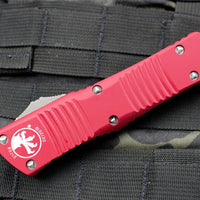 Microtech Combat Troodon Red OTF Single Edge Satin Blade 143-4 RD