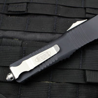 Microtech Combat Troodon Black S/E Satin Part Serrated Blade 143-5