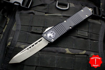 Microtech Combat Troodon Black Tanto Edge OTF With Apocalyptic Blade 144-10 AP