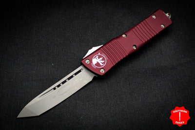Microtech Combat Troodon Merlot Red Tanto Edge OTF With Apocalyptic Blade 144-10 MR