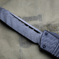 Microtech Combat Troodon Carbon Fiber Tanto Edge Damascus Blade black Handle 144-16 CFTI